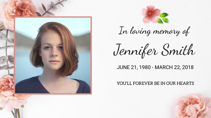 Funeral Announcement Digital na Display (16:9) template