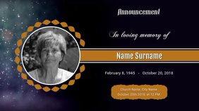 Funeral Announcement Digital Display Video