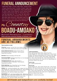 Funeral Announcement FlyerTemplate A2