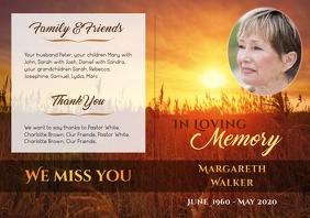 "Funeral Brochure ""Sun"" - 1 A4 template"