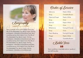 "Funeral Brochure ""Sun"" - 2 A4 template"