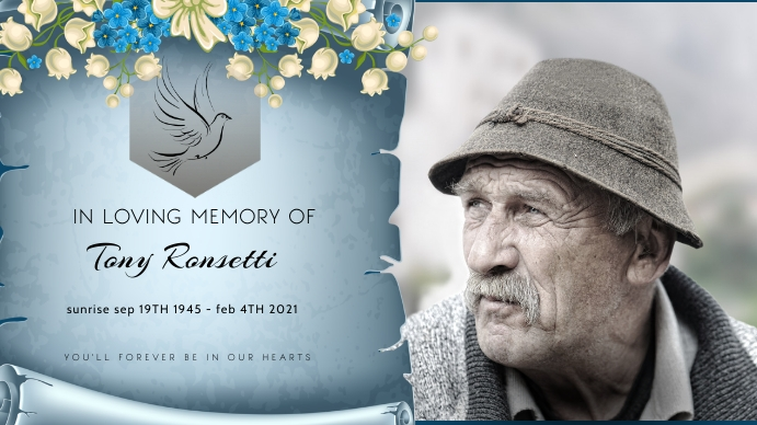 funeral card Digitale display (16:9) template