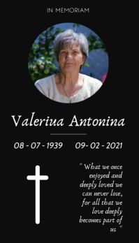 funeral card template design