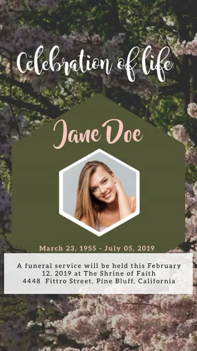 Funeral Digitalt display (9:16) template