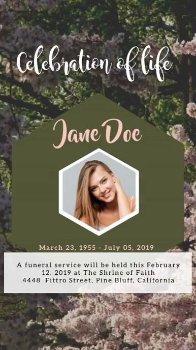 Funeral Digitale display (9:16) template