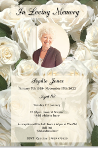 Funeral Poster template