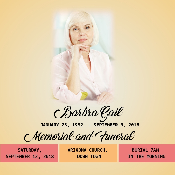 Funeral Flyer Template | PosterMyWall