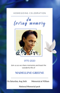 Funeral flyers Tabloid (Таблоид) template