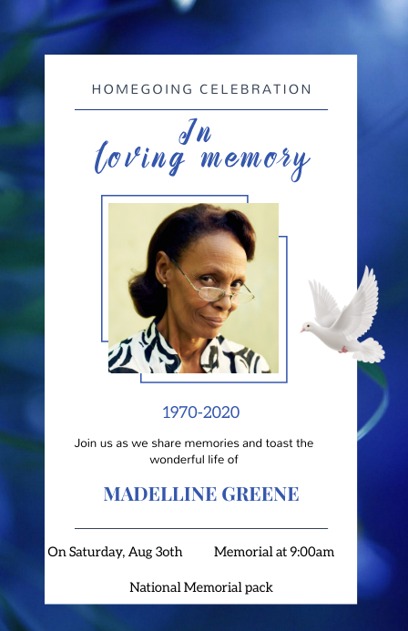 Funeral flyers Tabloide template