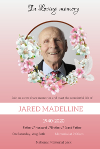 Funeral flyers Poster template