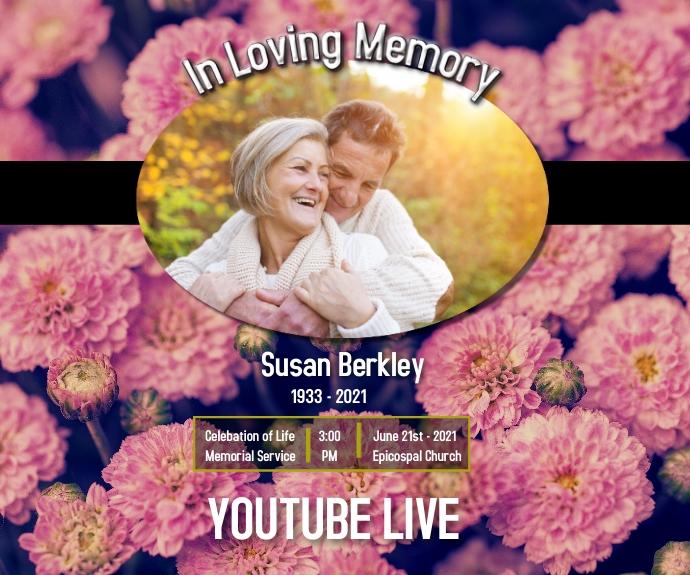 funeral/in loving memory/celebration life Mellemstort rektangel template