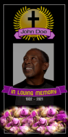 funeral/in loving memory/celebration of life Roll Up na Banner 3' × 6' template