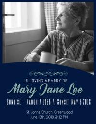 Funeral in loving memory flyer
