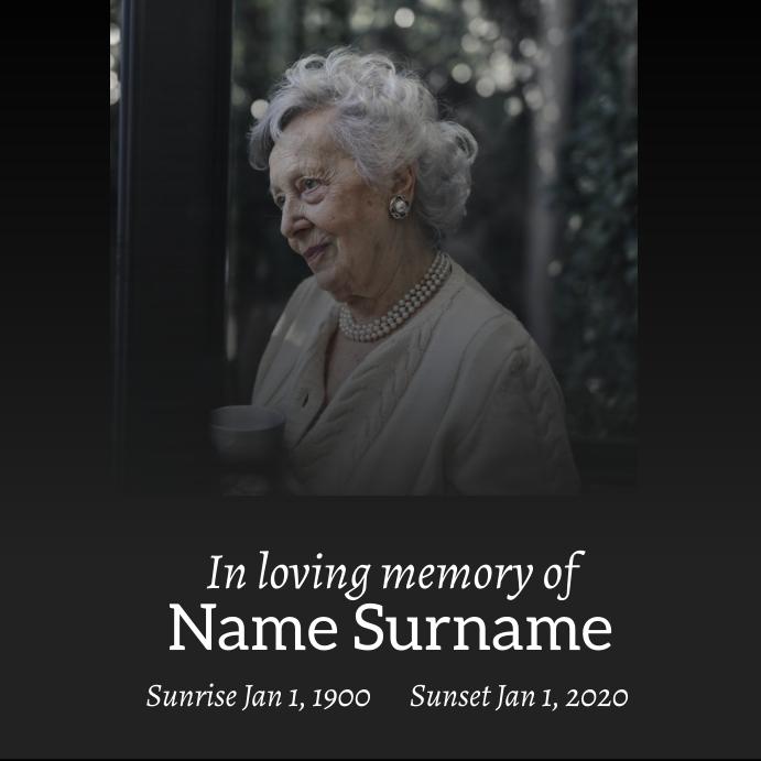 funeral in loving memory of Post Instagram template