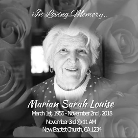 1910 Customizable Design Templates For In Loving Memory Postermywall