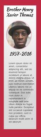 Funeral Keepsake Bookmark Half Page Legal template