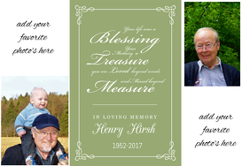 Funeral Memorial Photo Picture Collage Poster Event Flyer