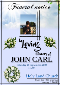 Funeral Notice A4 template