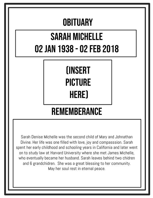 Funeral Obituary 1