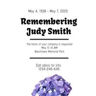 Funeral poster Instagram-Beitrag template