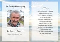 Funeral Prayer Card Postcard template