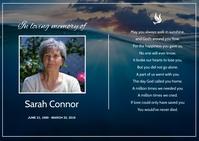 Funeral Prayer Card A6 template