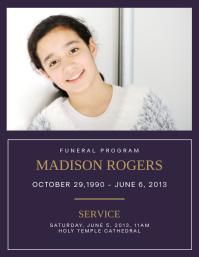 Funeral Program: Madison Rogers 1