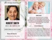 Funeral Program Card Template Pamflet (Letter AS)