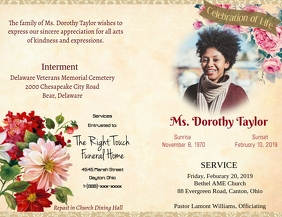 Funeral Program Cover Flyer (US Letter) template