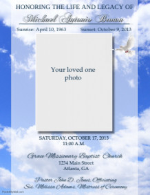 120 customizable design templates for funeral postermywall