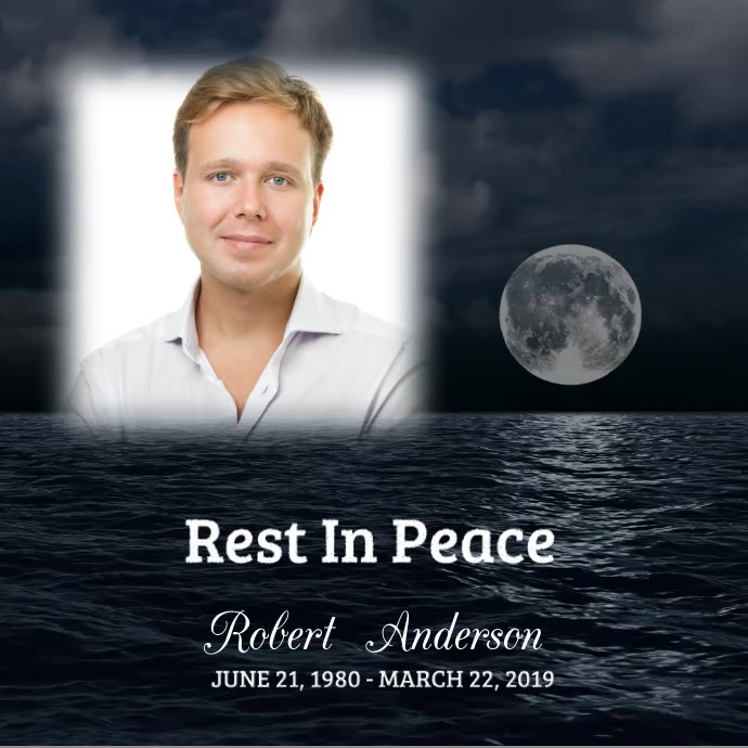 Funeral Rest In Peace Wpis na Instagrama template