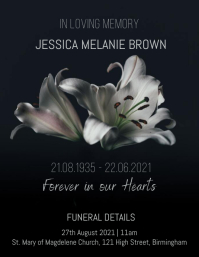 Funeral RIP Flyer Template