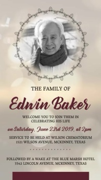 Funeral Service Invite Display Poster