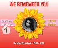 funeral template/1st anniversary/obituary Stort rektangel