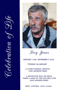 Funeral Template Poster