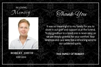 Funeral Thank You Card Label template