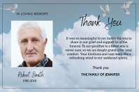 Funeral Thank You Card 标签 template