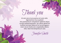 Funeral Thank You Card A6 template