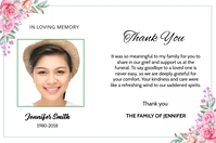 Funeral Thank You Card Etiket template
