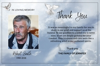 Funeral Thank You Card Tatak template