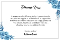 Funeral Thank You Card Etiqueta template