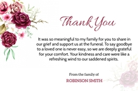 Funeral Thank You Card Rótulo template