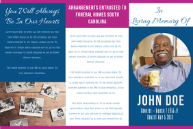 Funeral trifold poster