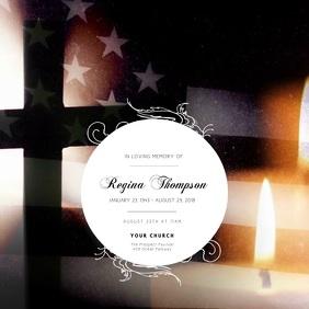 funeral video template america