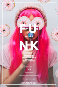 funk club party flyer template