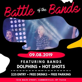 Funky Battle of the Bands Square Video template