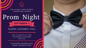 Funky Prom Night Event Facebook Cover Video template