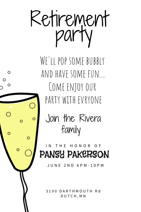 Funky Retirement Party Poster Template