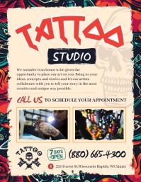 Funky Tattoo Salon Flyer