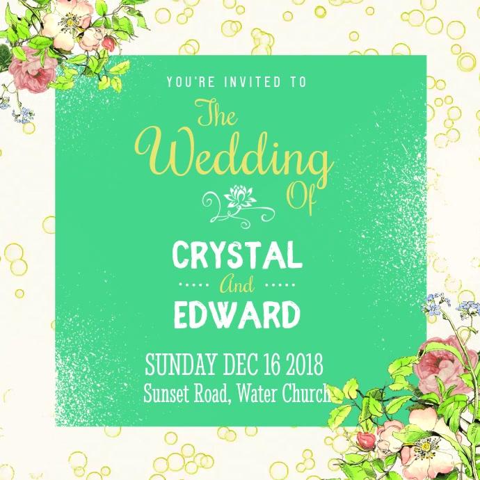 Funky Wedding Invitiation Square Video